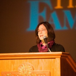 Former astronaut and Distinguished Educator in Residence at Boise State University, Barbara Morgan, introduces the 2014 Family of Woman Film Festival