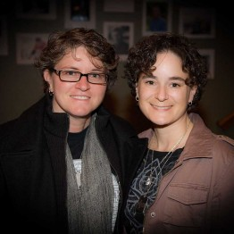 "The subject of the Academy Award nominate Documentary, ""The Invisible War"", Trina McDonald and her wife, Amy Lou"