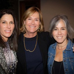 Bonni Curran, Jane Wyler, Stephanie Freid-Perenchio at opening night reception
