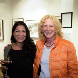 "Filmmaker Nisha Pahuja and Jennifer Biondi after the screening of ""The World Before Her"""