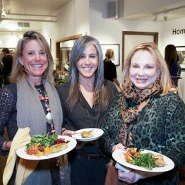Erin Rheinschild of Higher Ground, Stephanie Perenchio and Deanna Mellin at a special donor reception