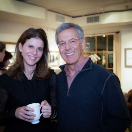 Filmmaker Amy Zeiring and Gary Borman at donor reception