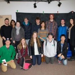 "Filmmaker Freida Lee Mock (""Anita"") visits a video class at The Community School in Sun Valley"
