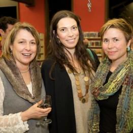 "Elizabeth Schwerdtle, Jordan Hawks and filmmaker Annie Eastman (""Bay of All Saints"")"