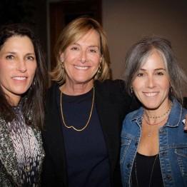 Bonni Curran, Jane Wyler, Stephanie Freid-Perenchio at opening night reception