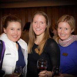 DeSiree Fawn, Sheridan Brett and Dana Marino at Community Library reception