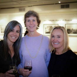 Stephanie Freid-Perenchio, Lisa Anderson and Connie Smith at donor reception